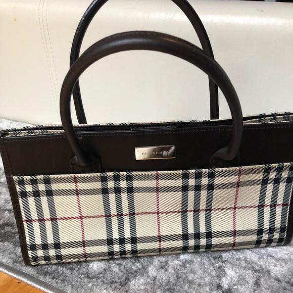 fcd6d1ab83b0 Burberry Handbags - Burberry plaid blue label tote